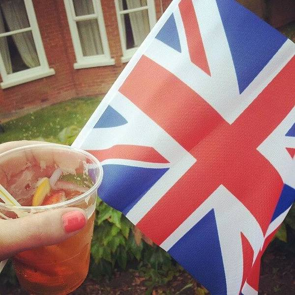 Grace Wall Art - Photograph - Waiting For The Olympic Torch With Pimms by Grace Bryant