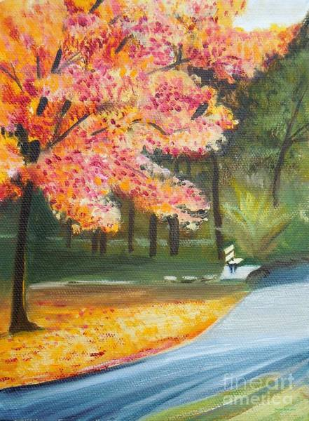 Wall Art - Painting - Walk In The Park by Pauline Ross