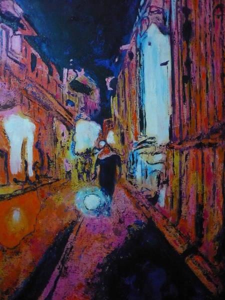 Wall Art - Painting - Walking Downtown by Ericka Herazo