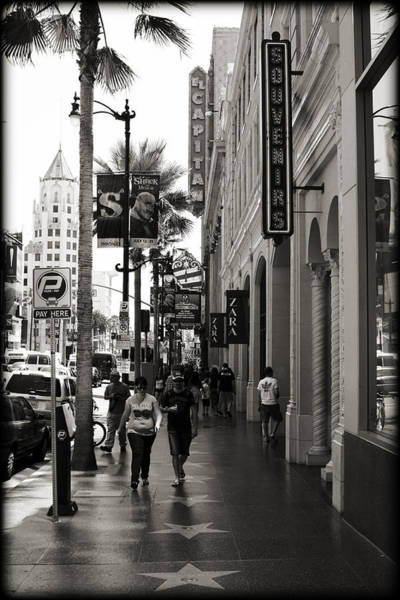 Hollywood Star Photograph - Walking In La by Ricky Barnard