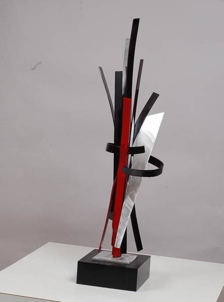 Interior Wall Art - Sculpture - Walking Into The Party by Mac Worthington