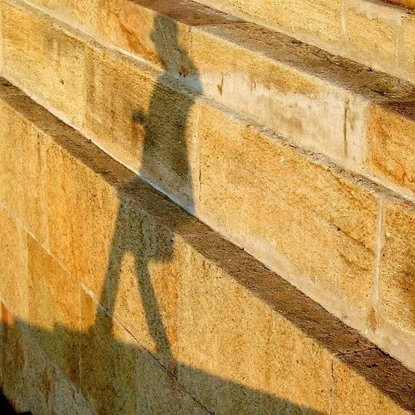 Sunny Photograph - Walking On Sunshine #italy #genoa by A Rey