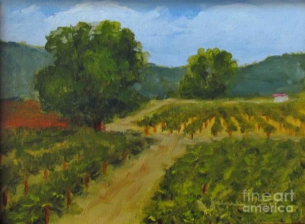Painting - Walking Path In The Vineyard by Jeanie Watson