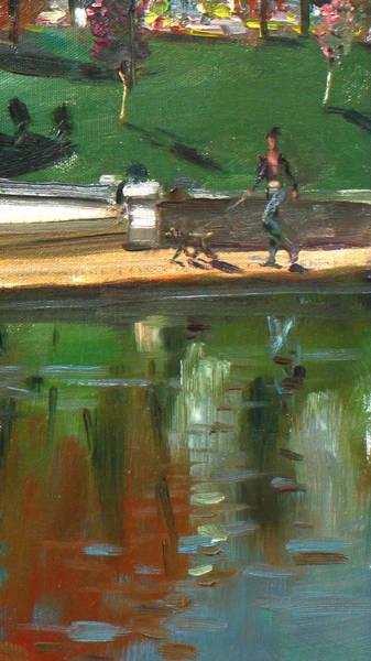 Wall Art - Painting - Walking The Dog by Ylli Haruni