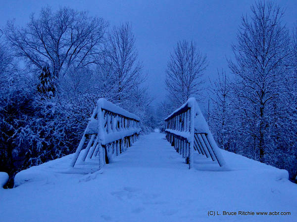 Photograph - Walking Trail Over Bridge by Bruce Ritchie