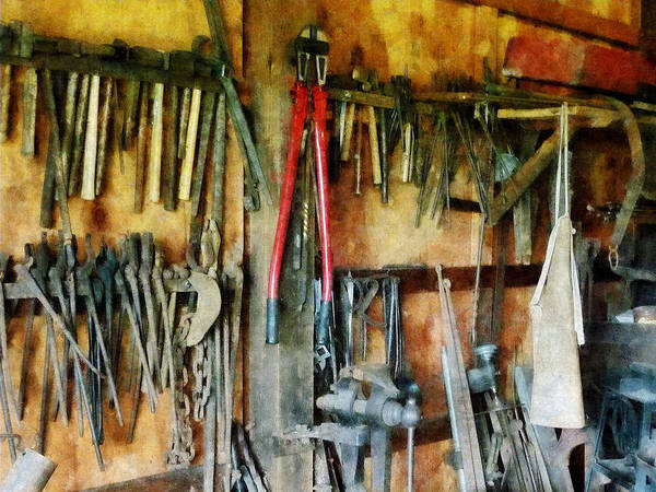 Photograph - Wall Of Tools With Shop Apron by Susan Savad