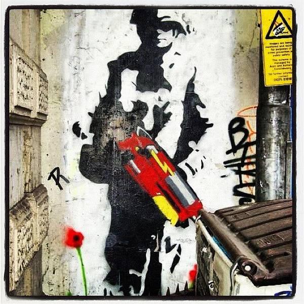 Guns Photograph - #wall #wallart #instawall #stokescroft by Nigel Brown