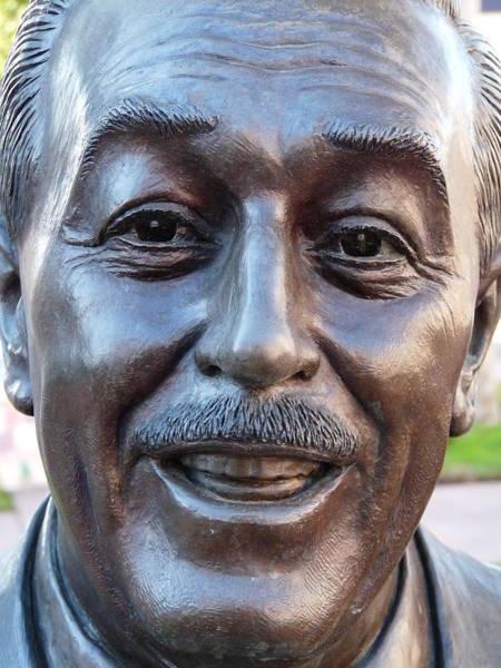 Photograph - Walt Disney Bust by Jeff Lowe