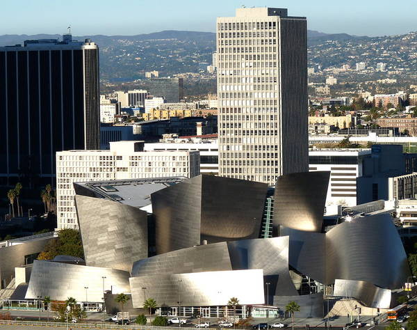 Photograph - Walt Disney Concert Hall Aerial by Jeff Lowe