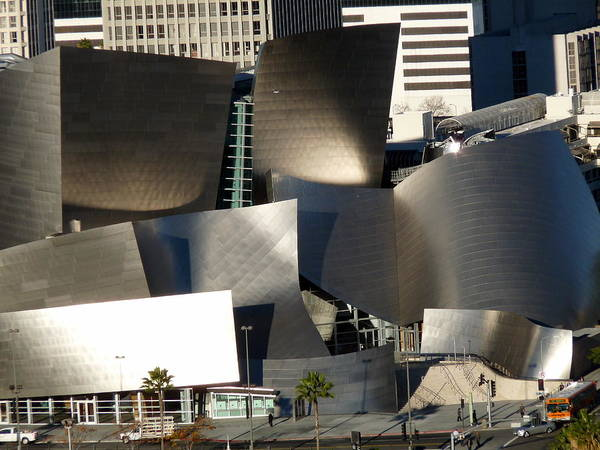Photograph - Walt Disney Concert Hall Aerial Tight by Jeff Lowe