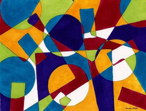 Primary Colors Drawing - Wanderzirkus by Lesa Weller