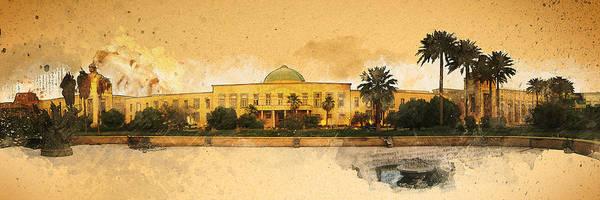 War In Iraq Sadaam's Palace Art Print