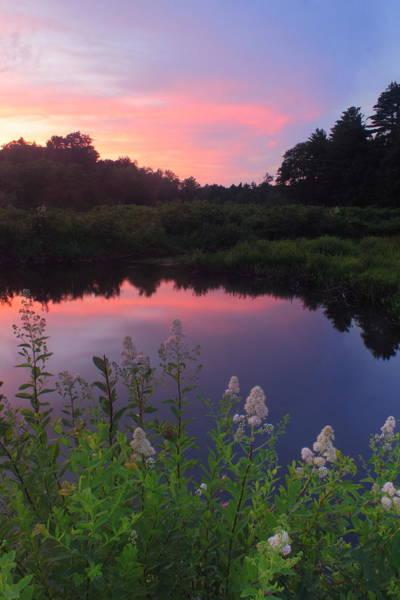 Rutland Photograph - Ware River Summer Sunset by John Burk