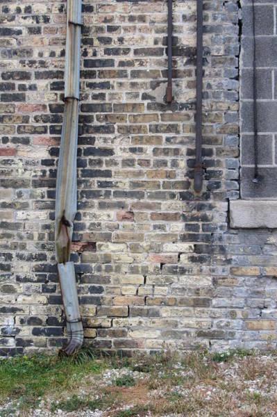 Photograph - Warehouse Drain Pipe 1 by Anita Burgermeister