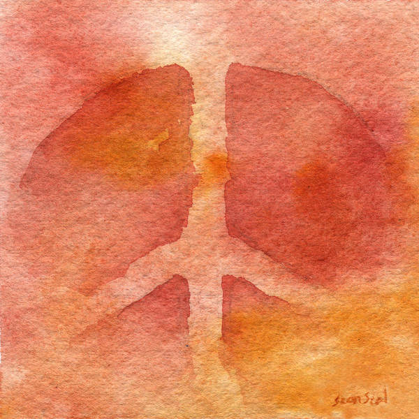 Peace Wall Art - Painting - Warm Peace by Sean Seal