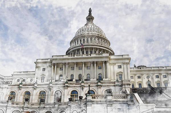 Capitol Digital Art - Washington Dc Capitol Hill by Brandon Bourdages