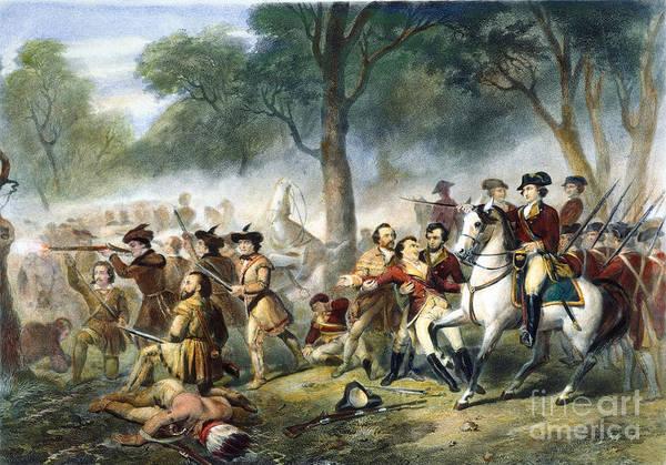 1755 Photograph - Washington: Monongahela by Granger