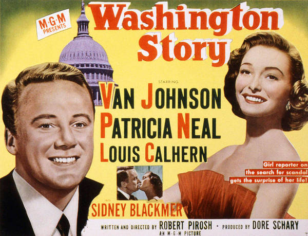 Van Johnson Photograph - Washington Story, Van Johnson, Patricia by Everett