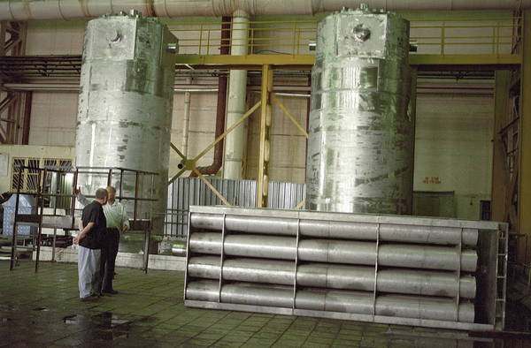 Lead Mine Wall Art - Photograph - Waste Nuclear Fuel Containers by Ria Novosti