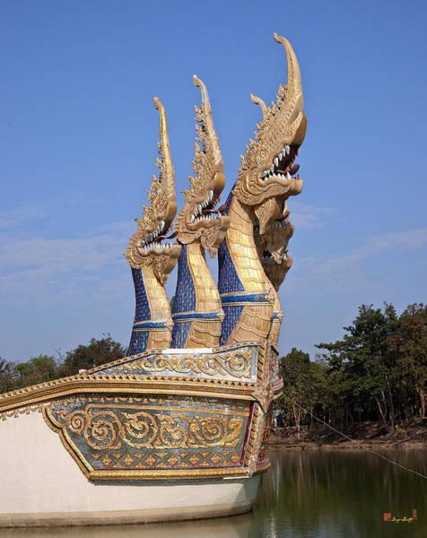 Photograph - Wat Ban Na Muang Wiharn Naga-headed River Barge Prow Dthu175 by Gerry Gantt