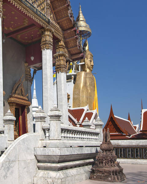 Phra Phrom Photograph - Wat Intarawiharn Ubosot And Phra Luang Phor Toh Dthb1323 by Gerry Gantt