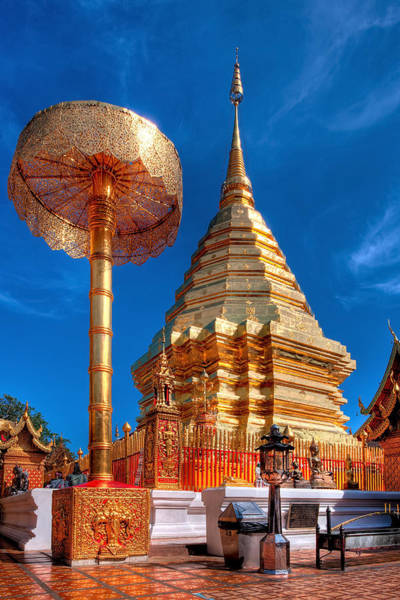 Stupa Photograph - Wat Phrathat Doi Suthep by Adrian Evans