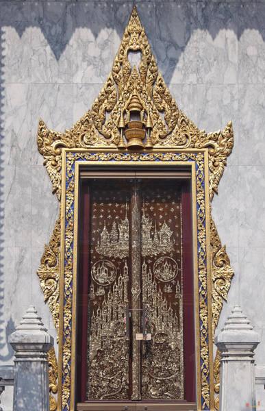 Phra Phrom Photograph - Wat Tri Thotsathep Ubosot Door Dthb1267 by Gerry Gantt