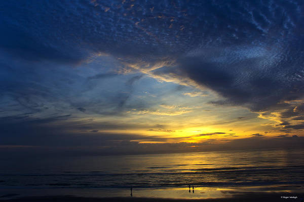 Ormond Beach Photograph - Watching The Sunrise by Roger Wedegis
