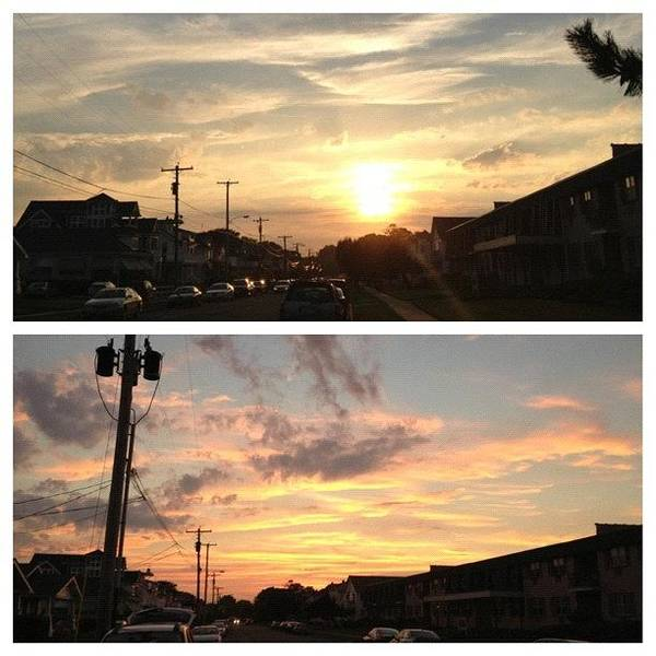 Workout Wall Art - Photograph - Watching The #sunset In #belmar After by Johnny Kucera