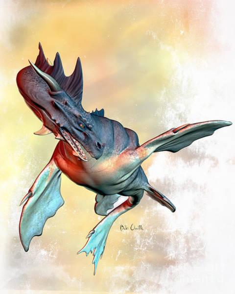 Digital Art - Water Dragon by Bob Orsillo