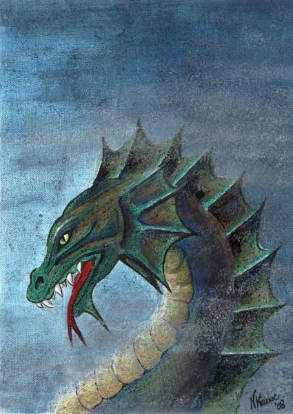 Mixed Media - Water Dragon by N Kirouac