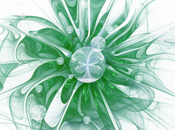 Algorithm Digital Art - Water Lily by Georgiana Romanovna