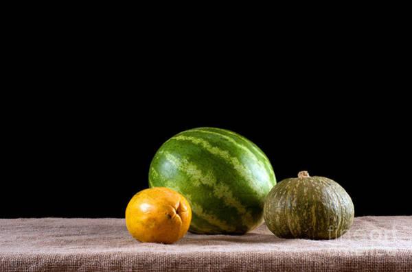 Water-melon Wall Art - Photograph - Water Melon Squash Papaya by Catherine Lau