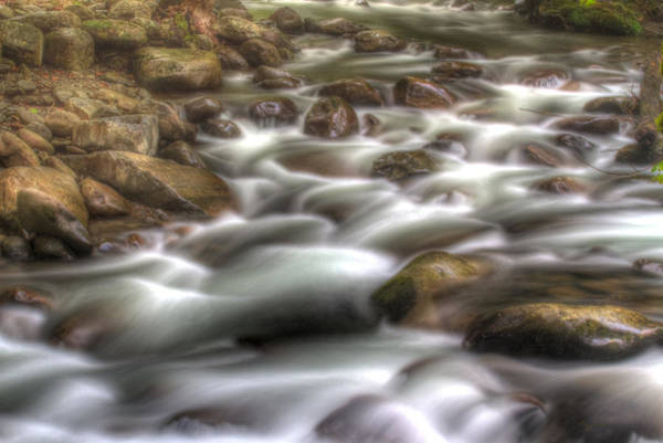 Photograph - Water On The Rocks by Barry Jones
