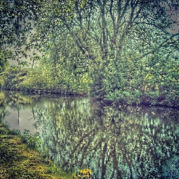 Wall Art - Photograph - Water Reflection In Manchester Canal by Abdelrahman Alawwad