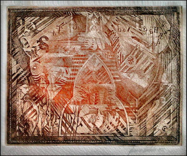 Drawing - Water Temple Of Betsy 1977 B by Glenn Bautista