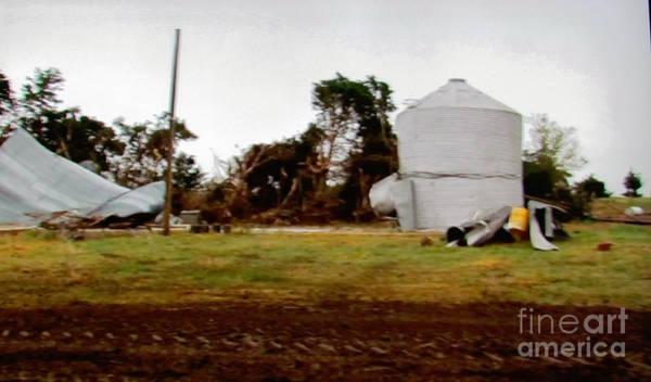 Photograph - Water Tower Tornado Destruct by Stanley Morganstein