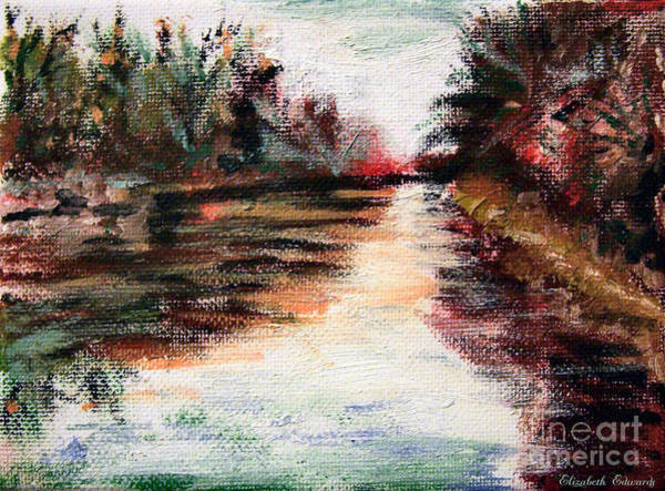 Painting - Water-way Oil Painting by Abbie Shores