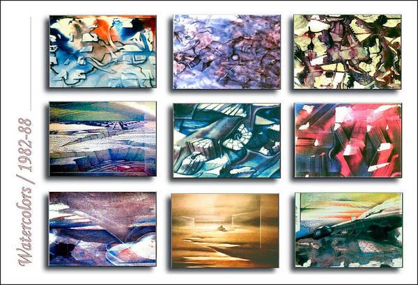 Painting - Watercolors 1982-88 by Glenn Bautista