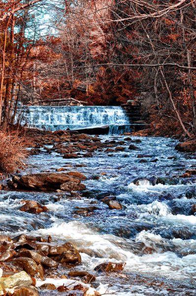 Pocono Mountains Wall Art - Photograph - Waterfall Along A Mountain Stream by Bill Cannon