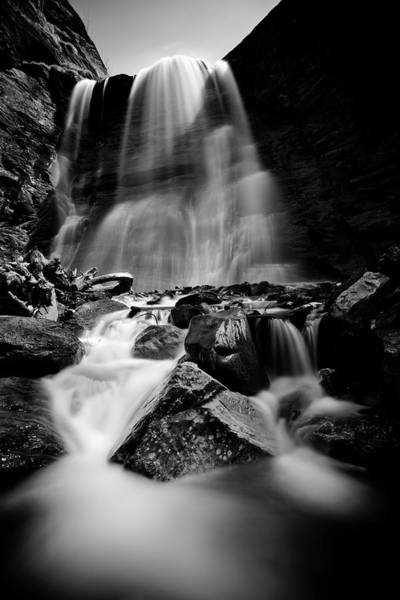 Wall Art - Photograph - Waterfall Down The Mountains by © Francois Marclay