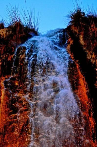 Jerash Photograph - Waterfall In The Night by Radoslav Rundic