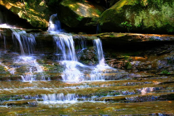 Photograph - Waterfall Trio At Mcconnells Mill State Park by Angela Rath