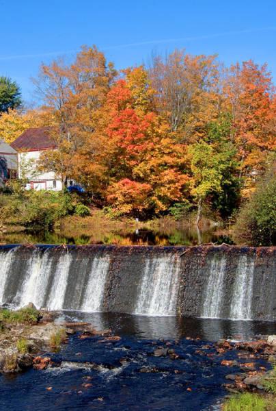 Photograph - Waterfall Vertical Autumn by Larry Landolfi