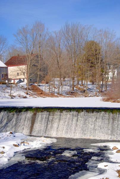 Photograph - Waterfall Vertical Winter by Larry Landolfi