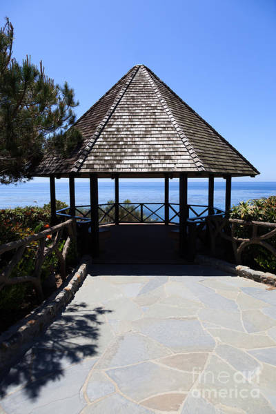 Oceanfront Photograph - Waterfront Gazebo by Paul Velgos