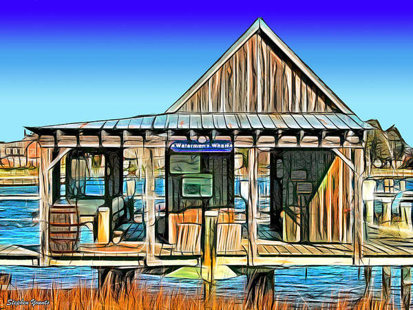 Wall Art - Digital Art - Waterman's Wharf by Stephen Younts