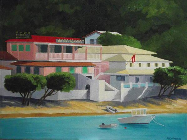 Us Virgin Islands Painting - Waterside Village by Robert Rohrich