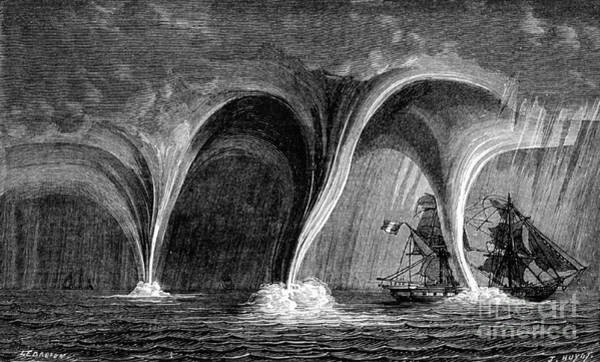 Photograph - Waterspouts, 1869 by Science Source