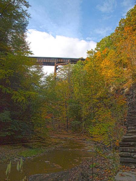 Photograph - Watkins Glen Rail Bridge by Joshua House
